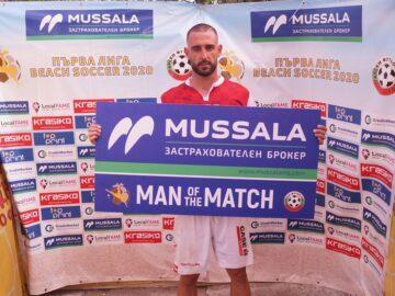 Мартин Недков е Играч на мача ФК Русе - Верея (Стара Загора)