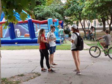 Мобилна информационна кампания за популяризиране на Европейски корпус за солидарност се проведе в Парка на младежта