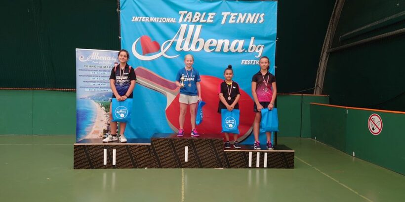 Анита Петкова стана шампионка по тенис на маса до 12 години, а Огнян Тодоров - вицешампион