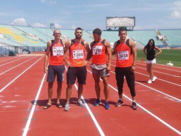 """СКЛА """"Локомотив"""" - Русе спечели третото място при мъжете в щафетата на 4 по 100 метра"""