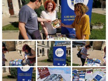 Информационният център Europe Direct Ruse организира отново лятна библиотека на открито