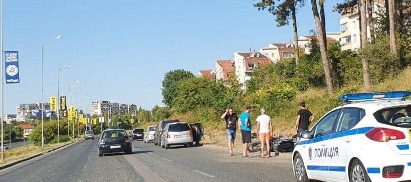 Катастрофа с мотоциклетист при входа на Русе