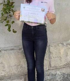 Трето място за ученичка от ПГ по туризъм - Русе в национален конкурс за стихотворение, разказ и есе
